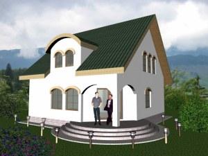 proiect casa prter si masarda 170mp